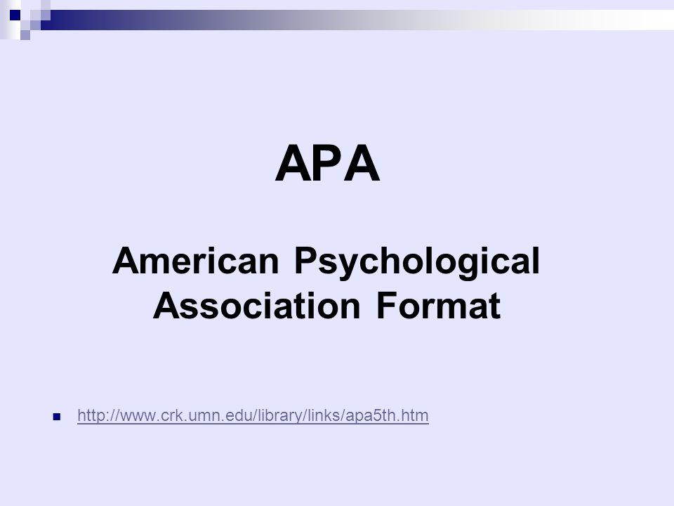 論文基本架構和格式 mla vs apa ppt