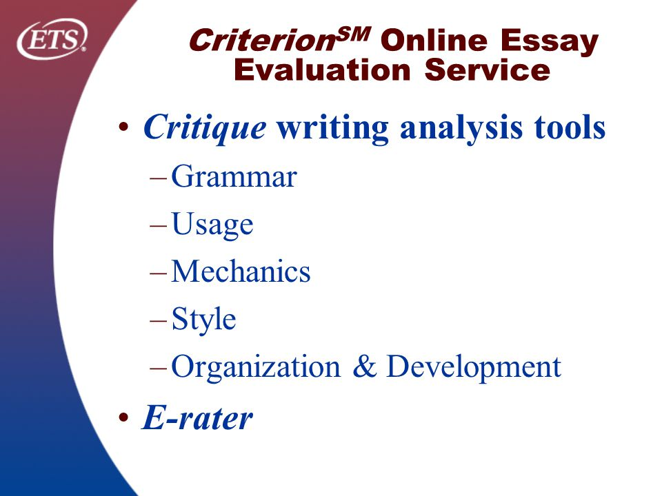 evaluation criteria essay writing Writing an evaluation essay is a great way to size up a particular object or idea this type of critical writing sets precise criteria for evaluation, providing fair and solid supporting evidence so that readers can form their opinions about a subject.