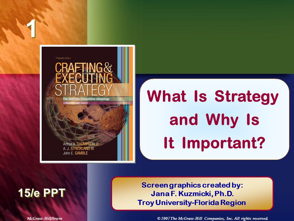 """chapter 1 what is strategy michael Chapter 1  introducing strategic management 5 the performance  """"any  strategy,"""" says michael porter, one of the preeminent writers on the subject, """"   is."""