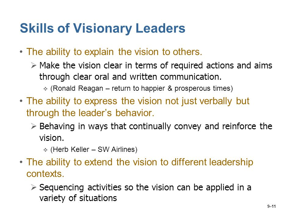 Skills of Visionary Leaders