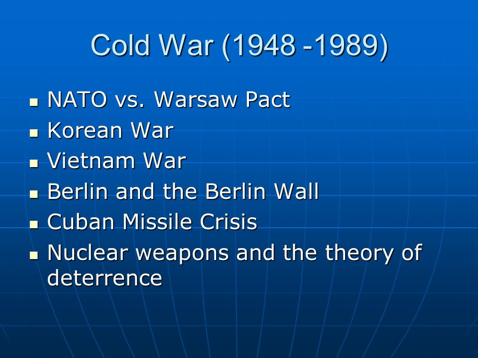 cold war and nuclear deterrence theory A brief period in the ending of the cold war saw a serious the concept of deterrence and deterrence theory perfect deterrence theory nuclear weapons.
