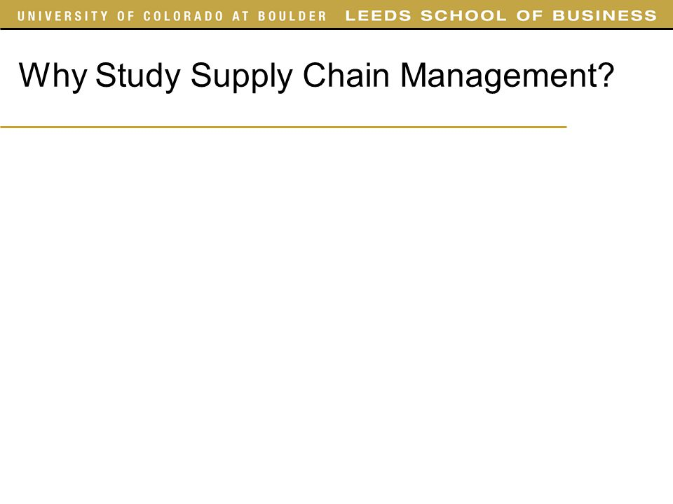 Notes on Supply Chain Management Supply Chain
