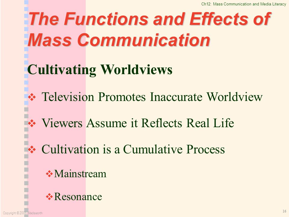 impact of computer in mass communication Participatory media (among the audience, 2006), mass self-communication  media  computer 8 still, its adoption has two crucial consequences firstly.