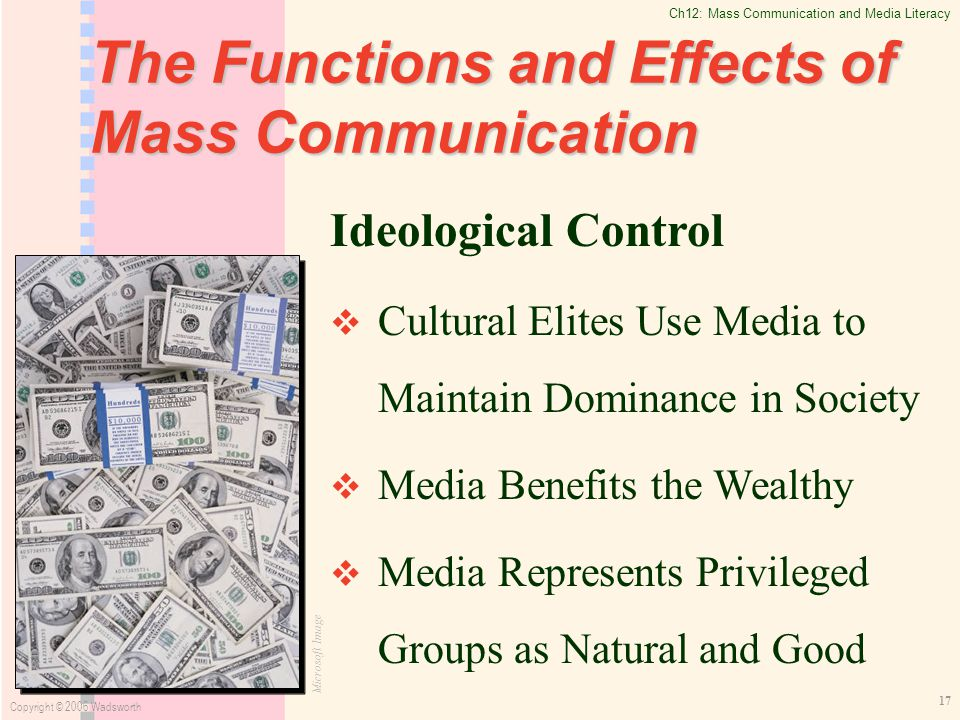 the impact of mass communication to Free essay: the media is a powerful presence within the lives of others it can be  described as the main channel of mass communication media is often used.