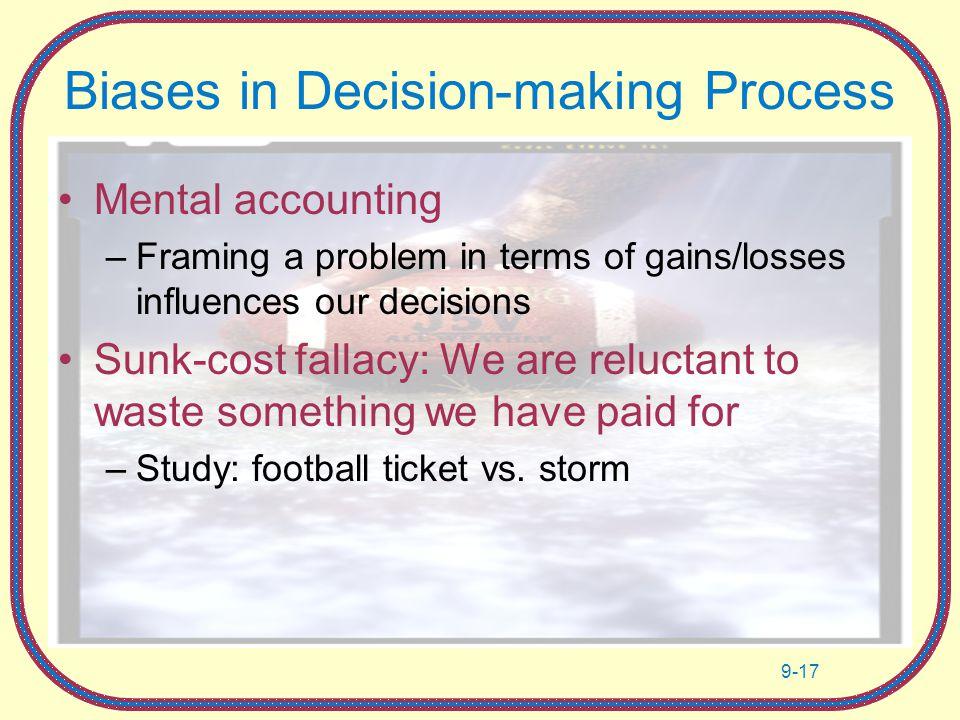 Gambling sunk cost