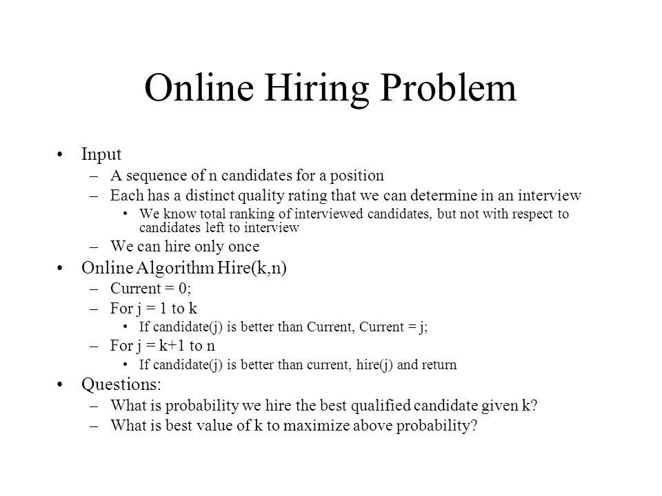hiring quality algorithm