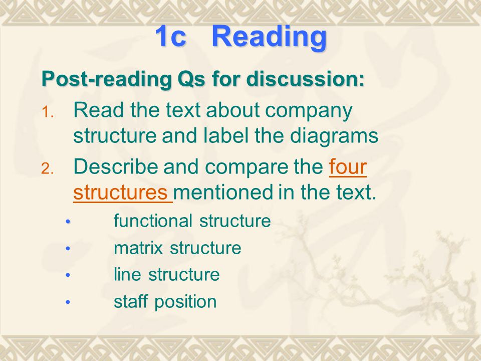 1c Reading Post-reading Qs for discussion: