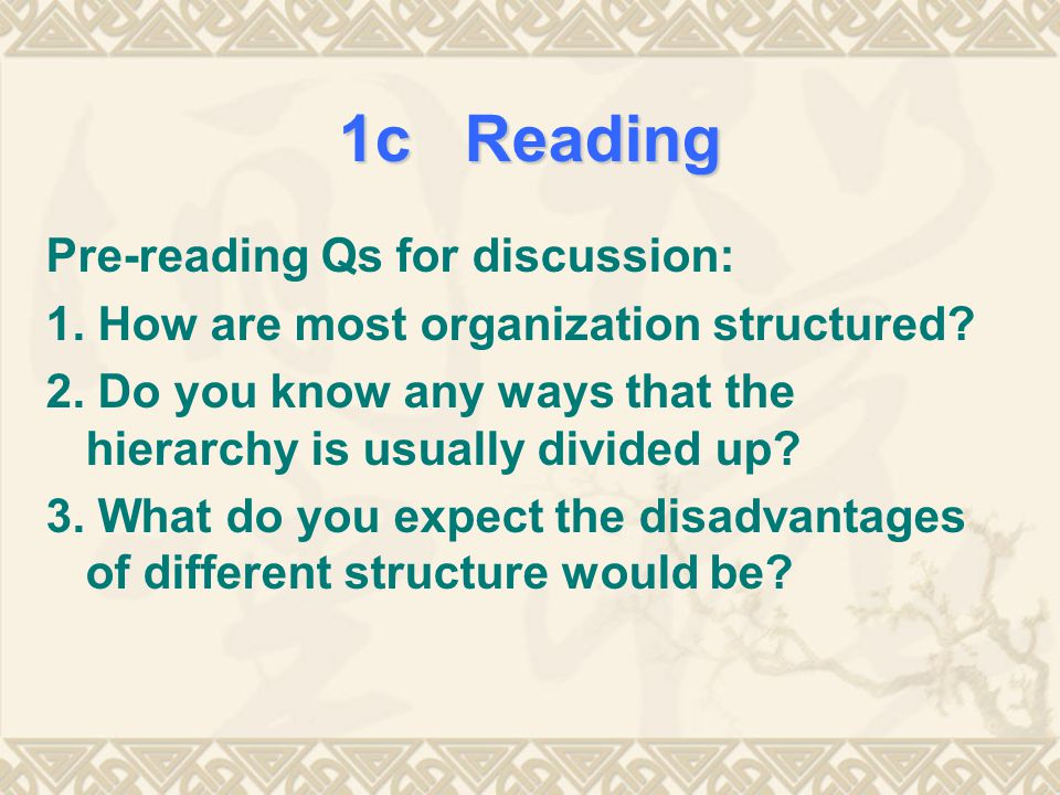 1c Reading Pre-reading Qs for discussion: