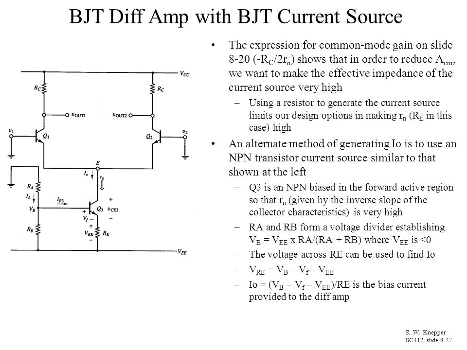 how to set bias current of transistor amp