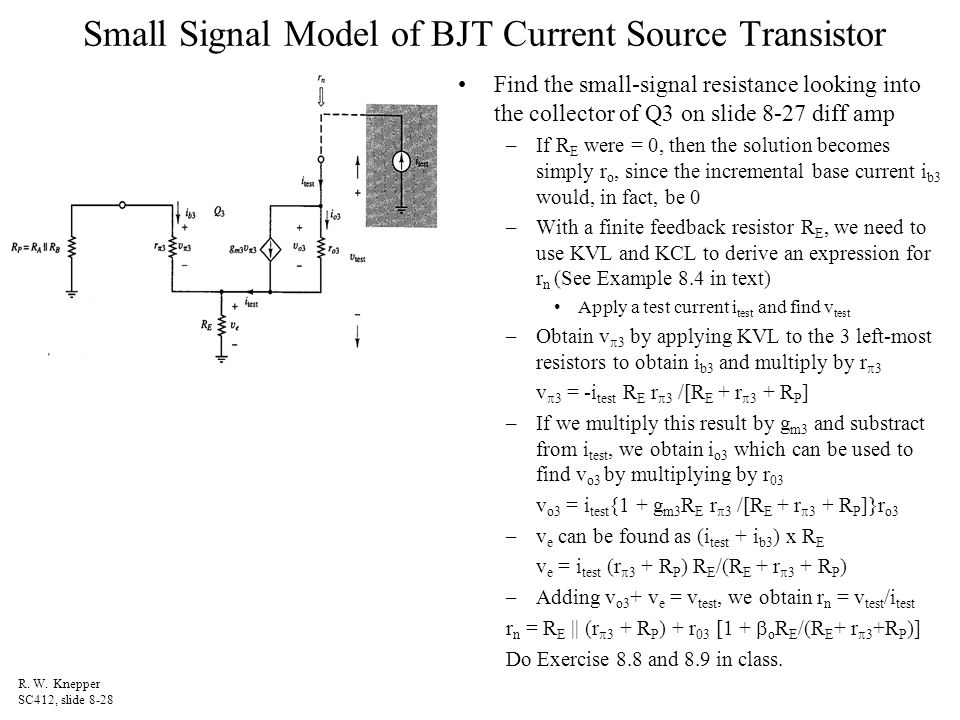 bjt exercise Bipolar junction transistor (bjt) sheikh sharif iqbal (ref: text book and kfupm online course of ee-203)  exercise bjt-2: if a bjt has va=100v and ic=1ma, find r0.