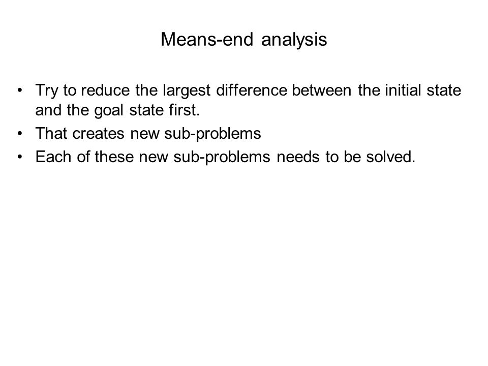 means end analysis