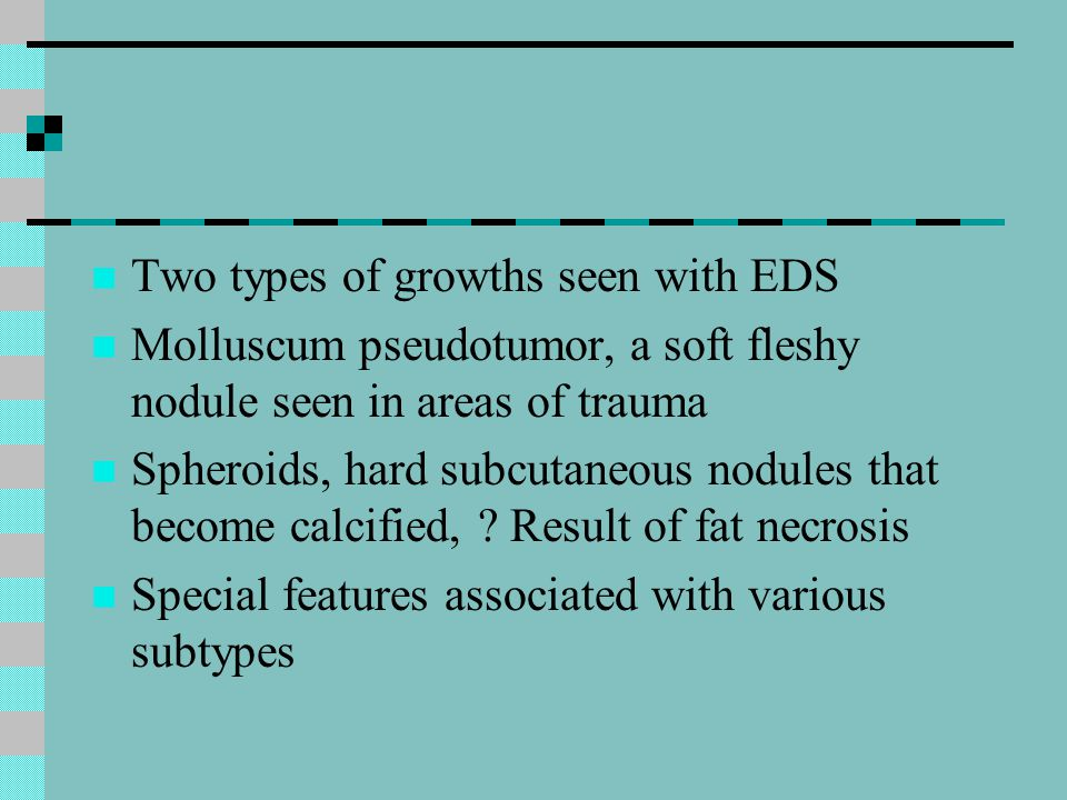Two types of growths seen with EDS