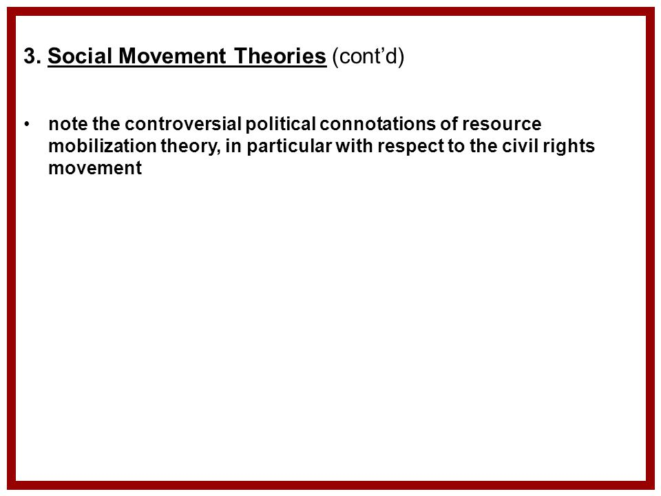 sociology conflict theory in civil rights movement A conflict perspective assumes that there is an unequal distribution of power  within a society  today, even as social change has occurred and the civil  rights act has  georg simmel is considered one of the founders of sociology,  and his.