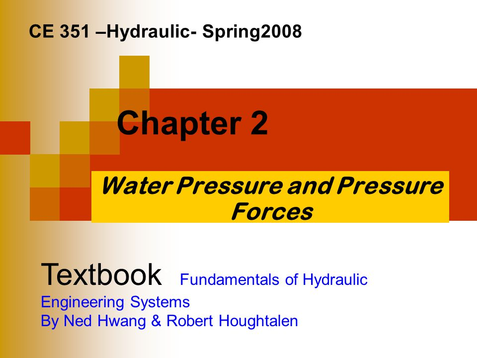 Water Pressure and Pressure Forces