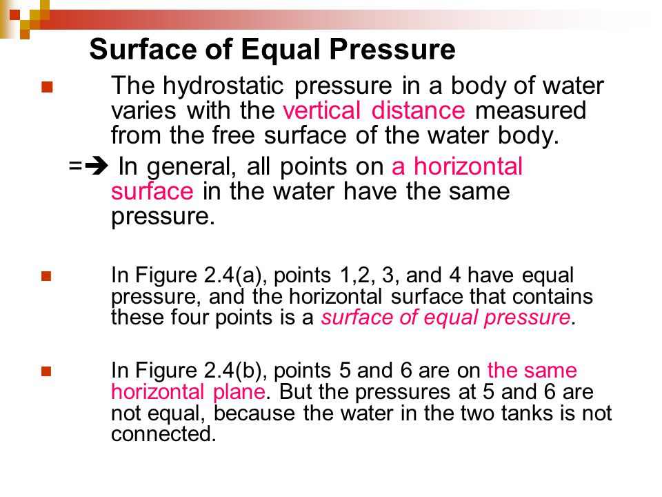 Surface of Equal Pressure