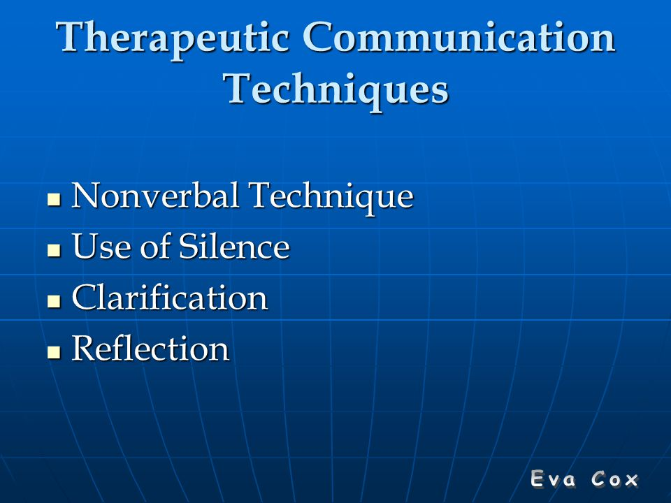 professional and therapeutic communication reflection Therapeutic communication is a process in which we can take to improve an individual's understanding in the message we are sending through non-verbal and verbal communication it comprises the use of detailed approaches that encourage an individual to demonstrate ideas and feelings.