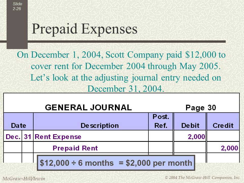 prepaid expenses journal entry pdf