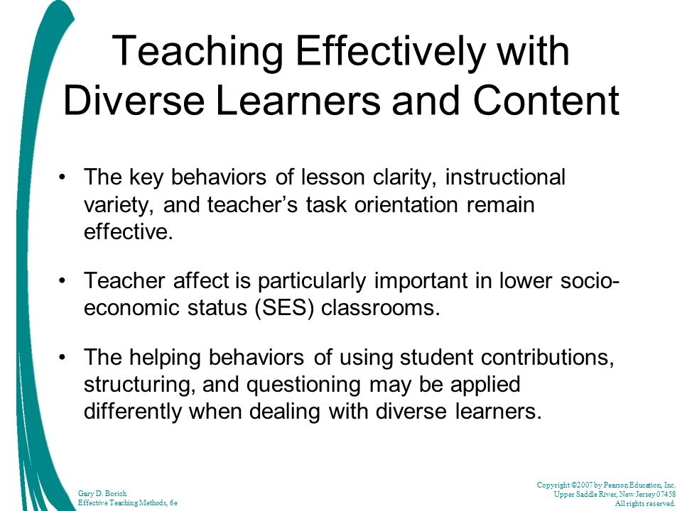 Teaching Effectively with Diverse Learners and Content
