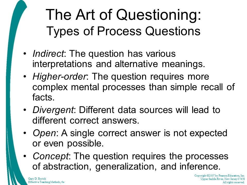 The Art of Questioning: Types of Process Questions