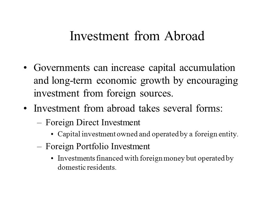 foreign portfolio investment and economic growth This thesis seeks to analyze foreign portfolio investment in nigeria and empirically investigate its role in the economic growth and development of nigeria.