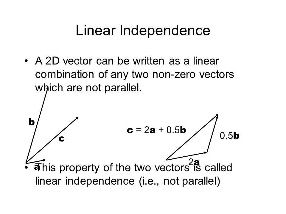 Vectors not parallel