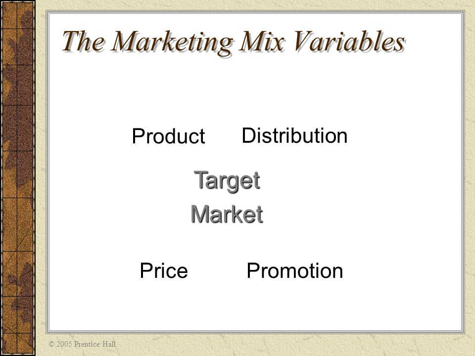 what variable are included in the marketing mix Know what the marketing mix or 4p's and what are the variables that comprise or  tools are.