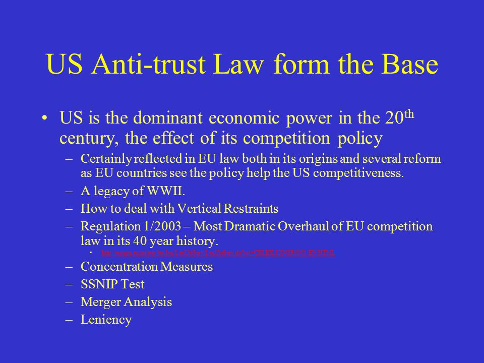 anti trust law If the ftc believes a law is or may be violated, the agency attempts stopping the disputed practices or resolving the anti-competitive aspects of the proposed merger.