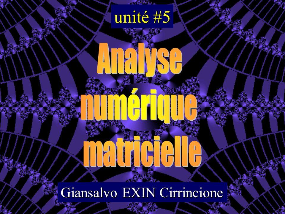 unité #5 Analyse numérique matricielle Giansalvo EXIN Cirrincione