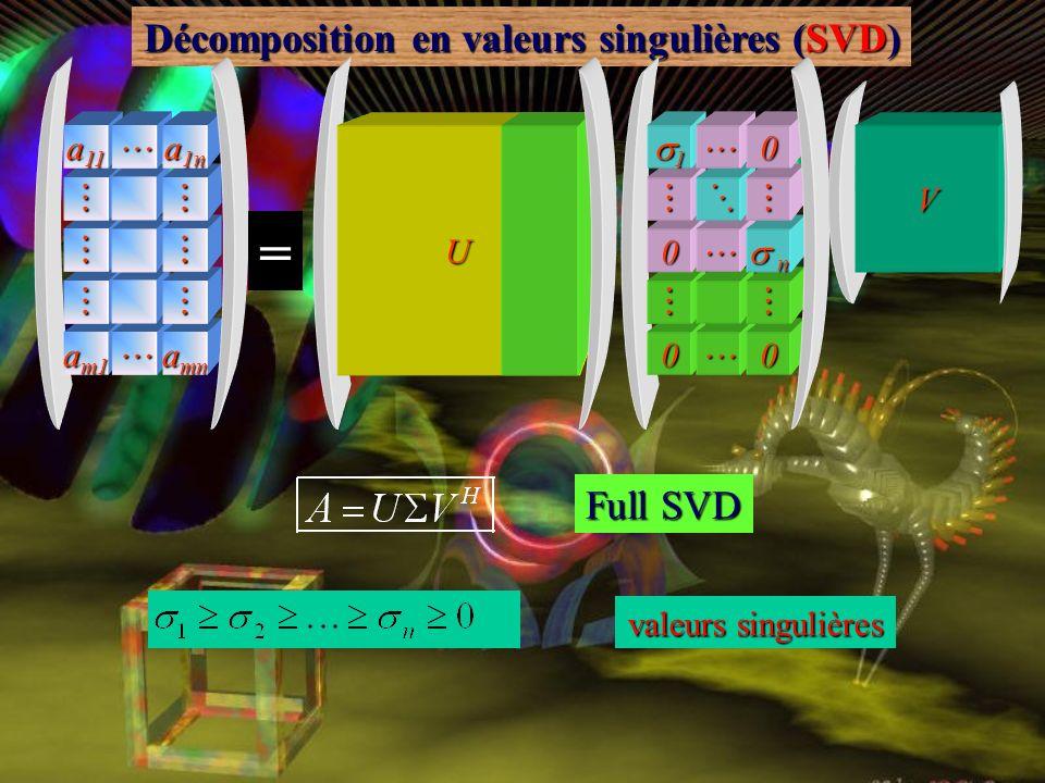 Décomposition en valeurs singulières (SVD)