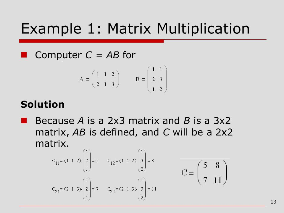 chapter 7 matrix multiplication slides from View 7%2f12 chapter 22-properties of matrix operationspdf from math 1114 at virginia tech chapter 22: properties of matrix operations goals: use the properties of matrix addition, scalar.