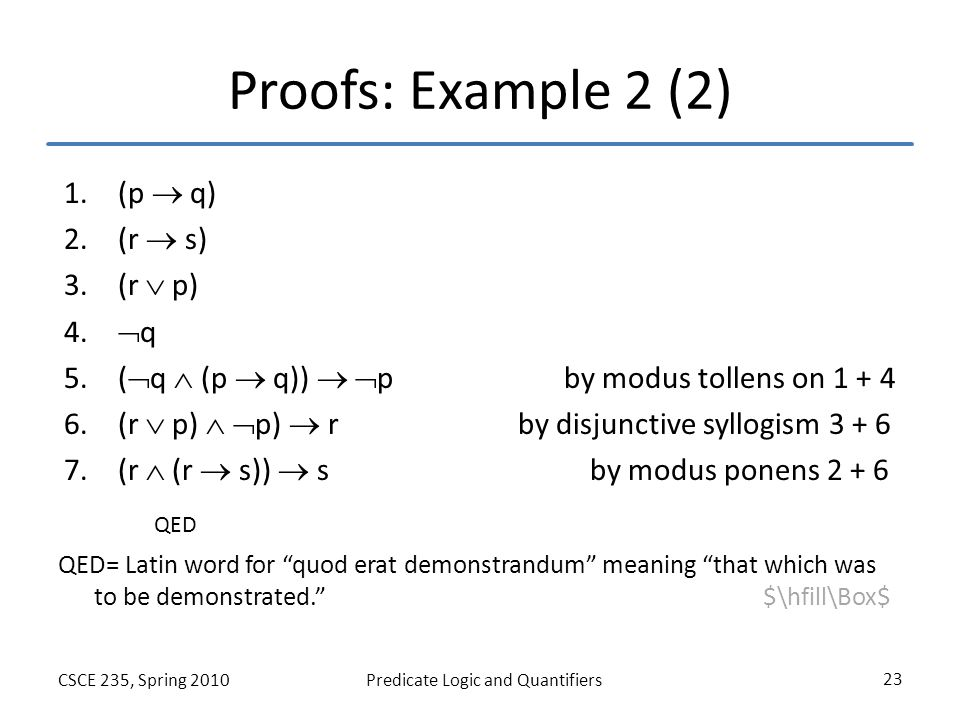 Proofs Sections 1.5, 1.6 and 1.7 of Rosen Fall ppt video online download