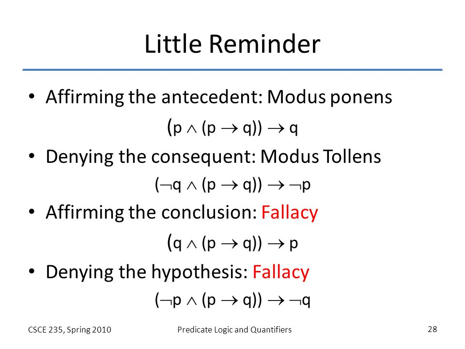 modus ponens modus tollens Define modus tollens: a mode of reasoning from a hypothetical proposition according to which if the consequent be denied the antecedent is denied.
