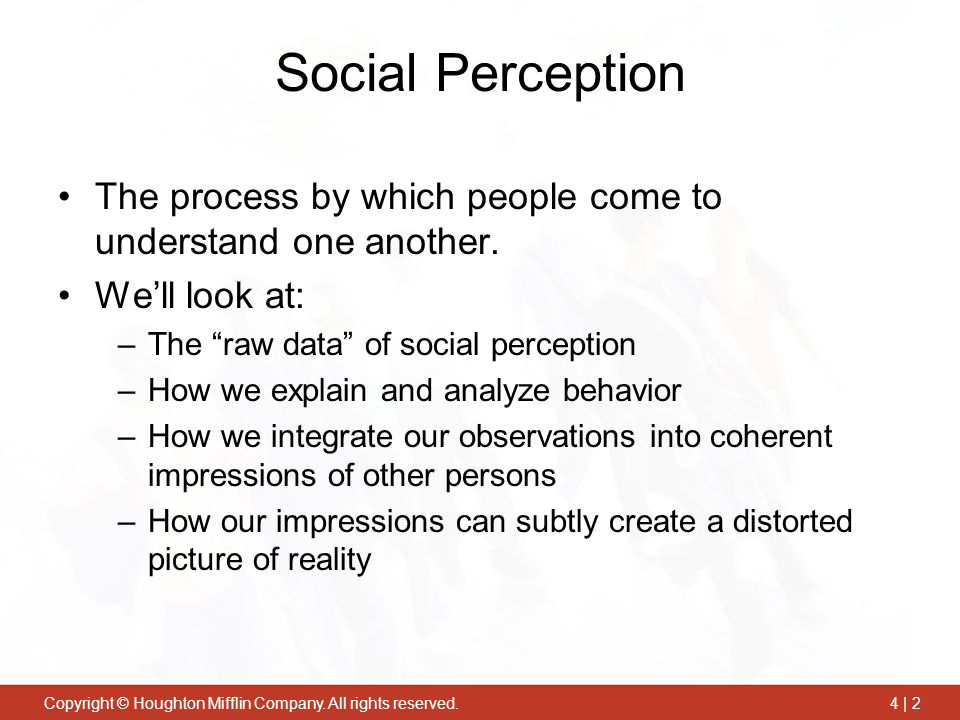 An analysis of perception and reality in society