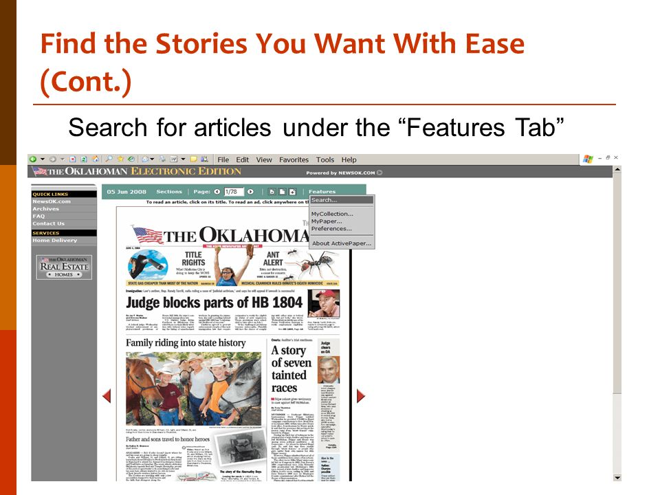 Find the Stories You Want With Ease (Cont.)
