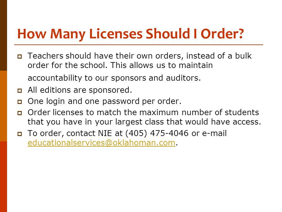 How Many Licenses Should I Order