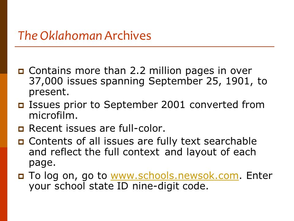 The Oklahoman Archives