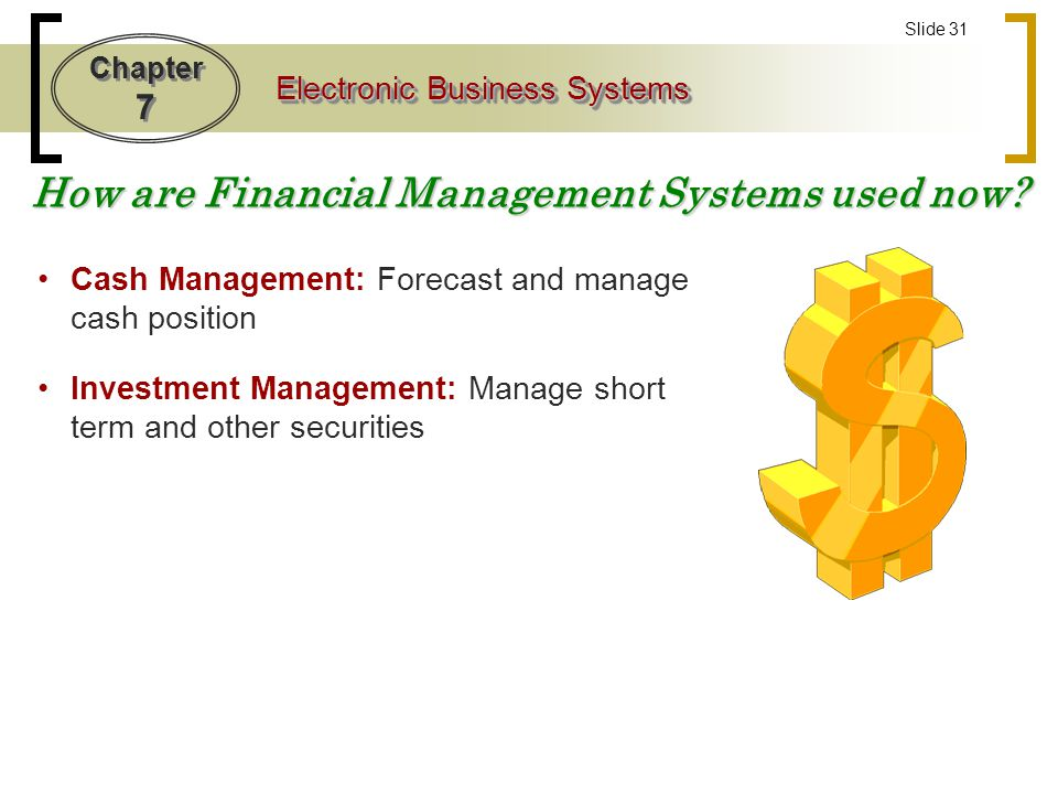 How are Financial Management Systems used now