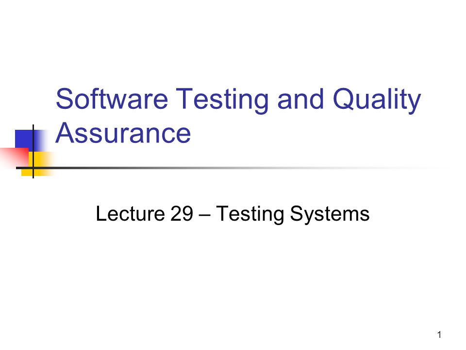 Software Testing and Quality Assurance - ppt video online ...