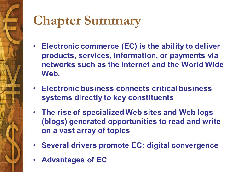 an overview of the benefits of e commerce in the business world Opportunity overview  on the quickest and easiest way to build a massive downline with these proven & amazing benefits  e-commerce business building.