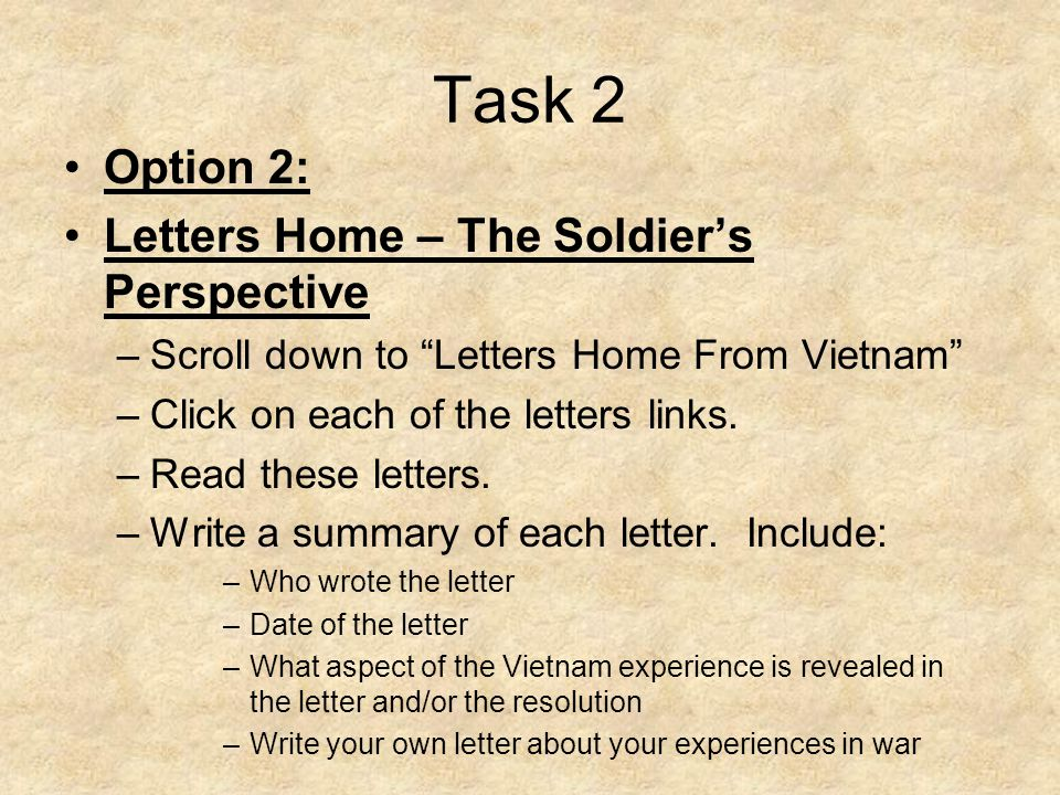 letters home from vietnam