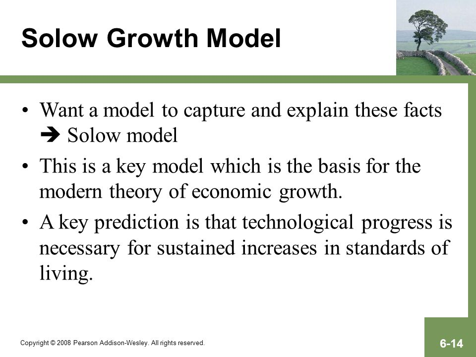 explain how the solow growth model The solow model is also going to help us to draw a distinction between two types of growth: catching up growth and cutting-edge growth as we'll see, catching up can be much faster than growing on the cutting edge.