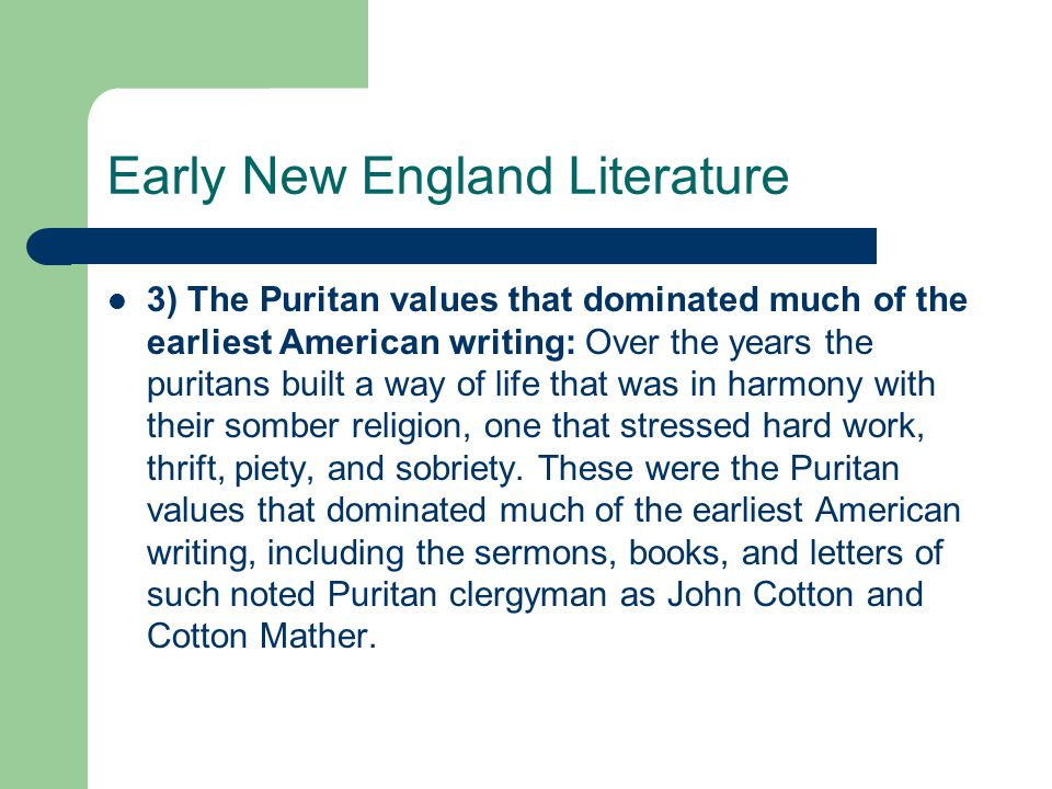 early puritan and pilgrim literature essay History of american literature essaysthe black and white word of american literature has had a potent affect on the american culture every aspect of it from, early puritan literature to contemporary writing has influenced several portions relating to choices america has made in history.