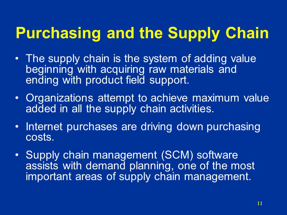 supply chain management in purchasing essay Supply chain management purchasing and supply management: a key to competitive advantage purchasing and supply management is an essential function of any business egardless of the size of the business, or the product are service that they offer, every business depends on some type of supply in order to produce goods or services.