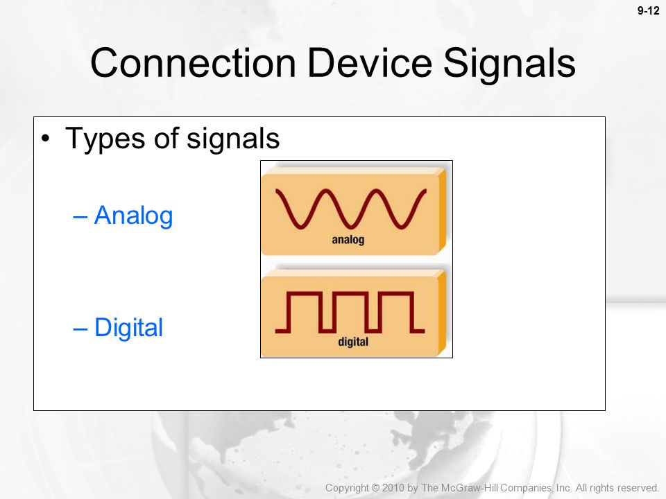 Connection Device Signals