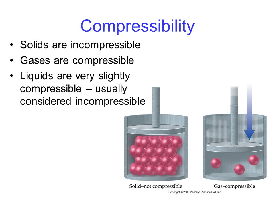 compressibility of solid liquid and gas. 37 compressibility solids are incompressible gases compressible of solid liquid and gas