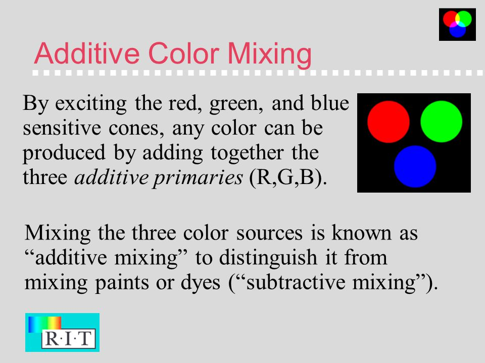 Color Mixing There Are Two Ways To Control How Much Red Green