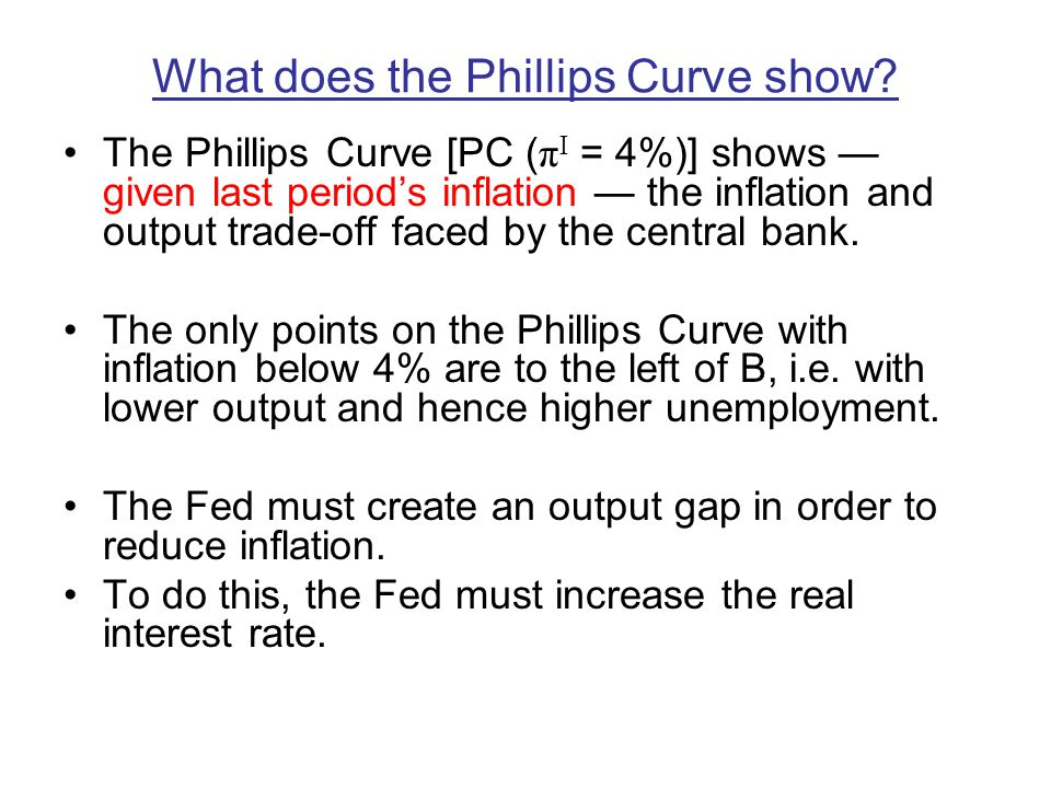 What does the Phillips Curve show