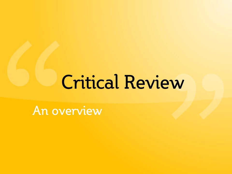 ritical review Guidelines for writing a critical book review _____ a book review presented to dr (professor's name) the southern baptist theological seminary.