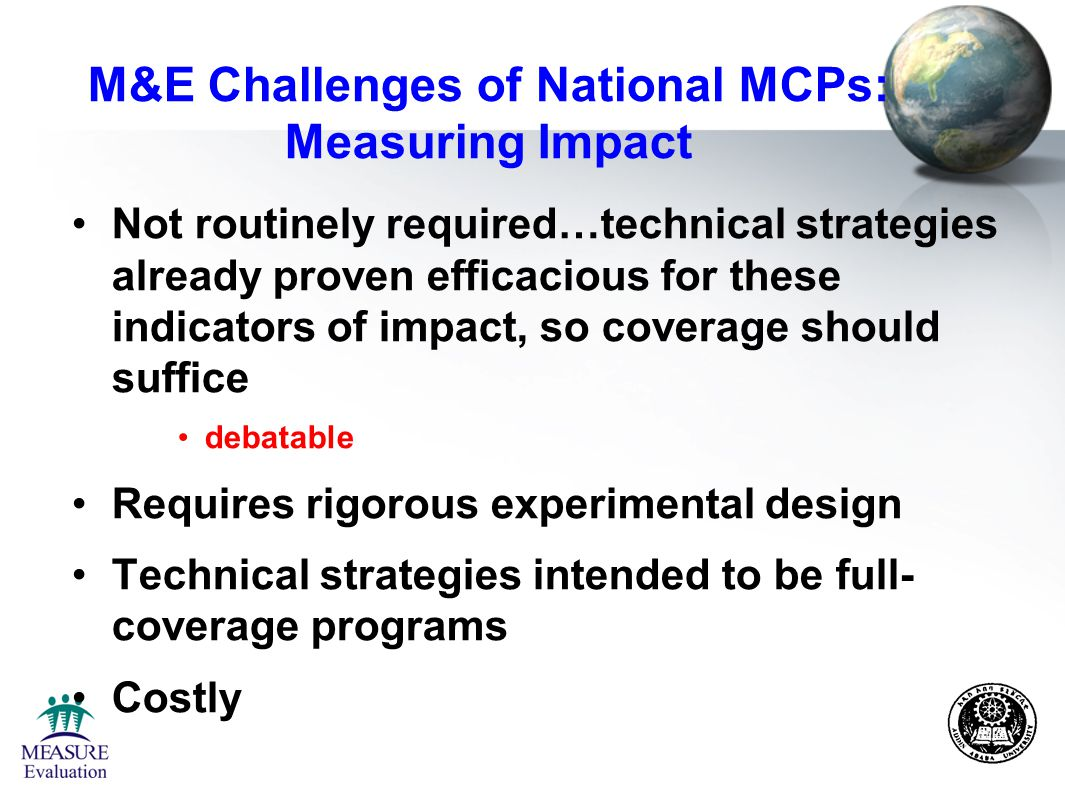 Measuring the impact of level of