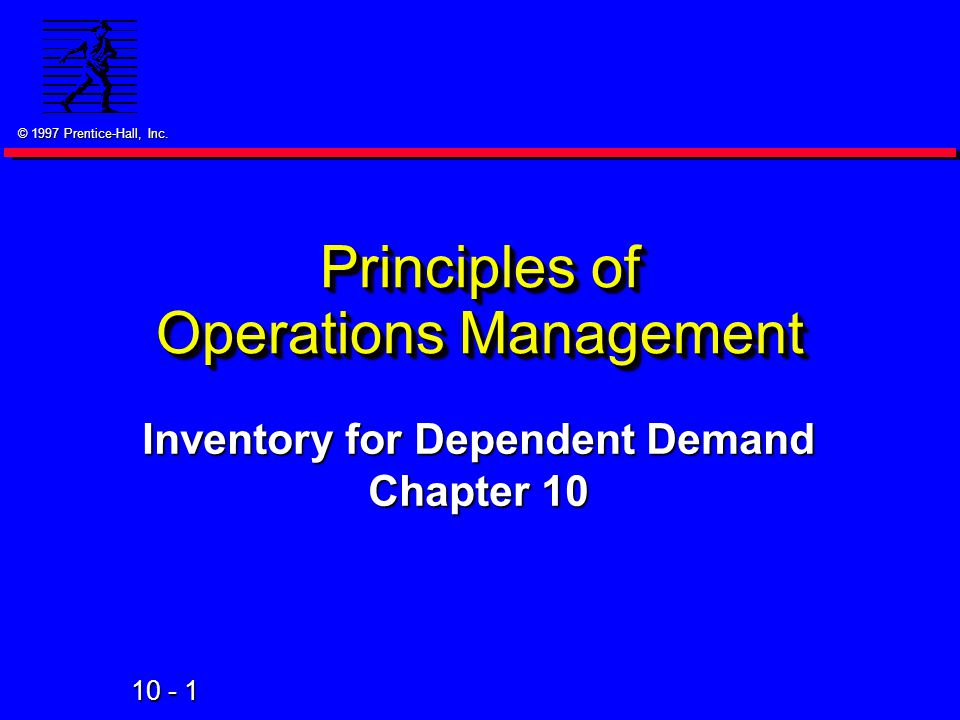principles of operations management The objective of this course is to provide the student with an understanding of the foundations of the operations function in both manufacturing and services.